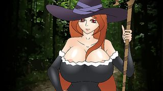Cartoon Big Boobs Game Sexy Hunt Witch  [flash]