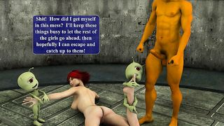 3D Porn Game - Space Monsters With Tentacles Fucked Busty Teen Girl [flash]