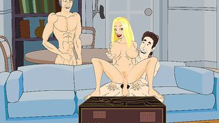 Cartoon FFM Group Sex Online Game [flash]