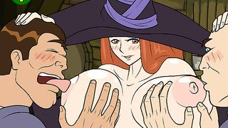 Cartoon Flash Game - Sexy Witch MMF Threesome [flash]