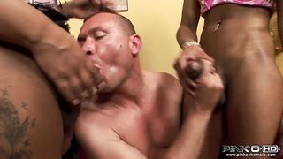 Fun Movies - SSM, Shemale fuck Male, Anal: These two south European shemales just love getting their big tits and large cocks - Raffaella, Mila - HD