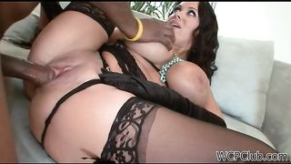 Hot Busty Mom In Stockings Sienna West Fucked By Big Black Cock WCP CLUB