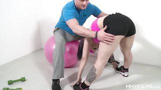MMV Films - Big tits fitness fucking - Aviva Rocks