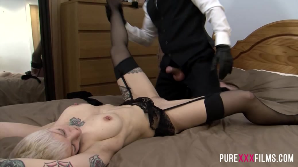 Sex pierced slave branded and