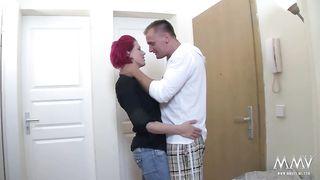 MMV Films - Busty redhead slut fucked hard