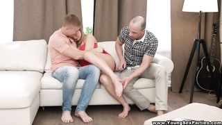 Young Sex Parties - End of summer 3some fuck fest MMF - Connie Sparkle - HD