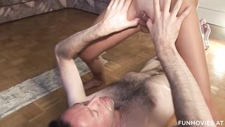 Fun Movies - MMF: Kinky redhead MILF pissing and fucking - HD