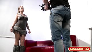 Magma Films HD - Curvy German girl slammed during casting - Samy Fox - HD