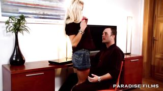 Paradise Films HD - Stunning blonde MILF with big tits takes a young cock - Sharon Pink - HD