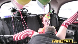 Fake Taxi - Customer gets steamy taxi massage - Daisy Lee [720p] HD