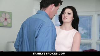 Family Strokes - Cute Young Teen Fucks Step-Dad While Mom Cooks - Jessica Rex HD [720p]