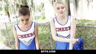 BFFS - FFM, Hot Cheer Babes Suck and Fuck Coach - HD [720p]