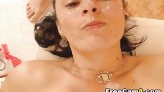 Pretty Babe got Hard Oral Sex with Huge Cumshot