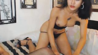 Sexy Duo Shemale Plays Cock