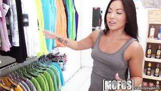 Mofos - Hot asian teen Morgan Lee Fucked In A Shop HD [720p]