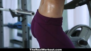 TheRealWorkout - Sexy Latina Teen Demi Lopez with wet shaved pussy hard fucked in the GYM HD [720p]