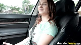 Stranded Teens - Sexy Cute Teen Suck Dick in the Car - Mofos - HD [720p]
