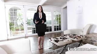 Life Selector - Angela White POV Sloppy Blowjob And Kinky Footjob - HD [720p]