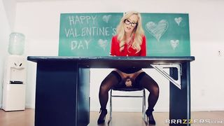 Brazzers - Blonde MILF Teacher fucks her student - Lucas Frost and Brandi Love - HD [720p]