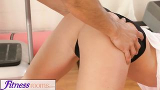 Fitness Rooms - Flexible blonde babe fucked every way before creampie - Cristal Caitlin HD 720p