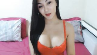 Hot Asian Faps Her Cock on Cam