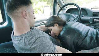 OyeLoca - Latina Teen Hitchhiker Fucked in A Car HD 720p