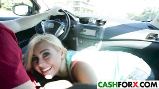 Real Teen GF suck dick in a car form money HD 720p
