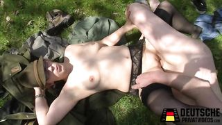 German amateur sex in a forest