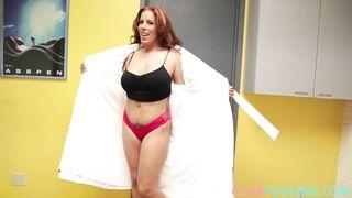 Redhead big boobs mature  blowjob POV HD