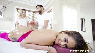 Brazzers - Bella Miss Threesome Massage POrn