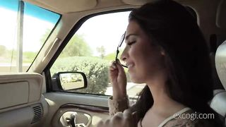 Sexy girl fucked in a car GIF