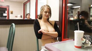 Dahlia Polk Flashing In McDonalds