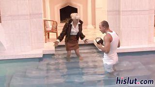 Lena Cova CFNM in pool