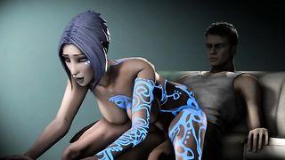 Maya Reverse Cowgirl - Borderlands 3D SFM Por