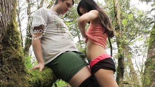 Blowjob in the forest