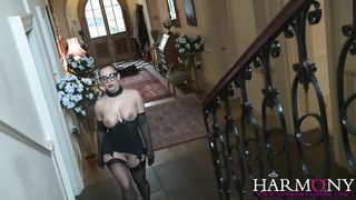 Harmony Vision - Beautiful big boobed brunette fucking in lingerie - Danny D, Liza Del Sierra