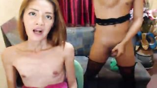 Sexy Shemale Gets Rammed by Her Shemale Partn