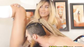 Stunning Blonde Shemale gets her Juicy Asshol