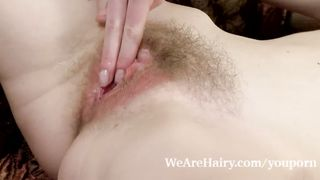 We are hairy - Natinella 34A natural breasts