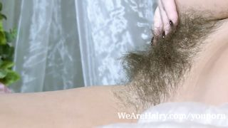 Young girl with a very hairy pussy nude porn