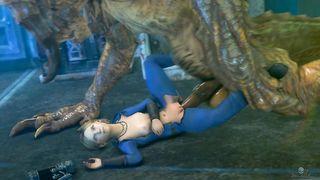 [SFM] Dragon Deathclaw fucks blonde girl Sarah