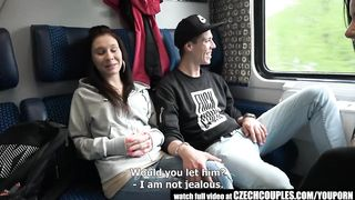 [FFMM] Hot sex video real teens fucks in Czech train for money
