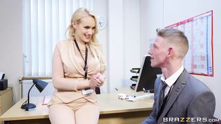 Woman Boss fucks in own office - Angel Wicky