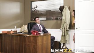 Brazzers - Hot Big Tit Redhead Seduces Her Boss - Ryan Driller