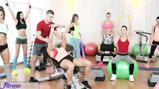 Fitness Rooms - [FFM] Big boobs babes suck and fuck trainers big hard cock - Angel Wicky, Katarina Muti