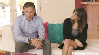 Sexy young daughter gets fucked by her daddy`s friend - Janice Griffith