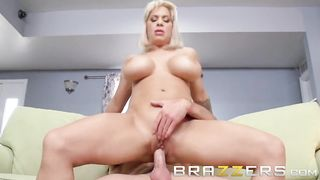 Brazzers - Step Mom Teases Her Step Son With Her Big Tits - Alyssa Lynn, Lucas Frost