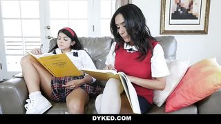 Dyked - Hot Teen Caught Masturbating and Fucked By Tutor - Tia Cyrus and Sadie Pop