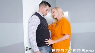 BRAZZERS - STEPMOM IN JAIL GETS HER STEPSONS BIG COCK DURING A VISIT - Julia Ann, Tony Martinez