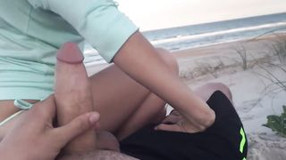 Homemade Beach Suck and Fuck